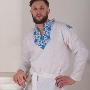 Мужская рубаха с печатным рисунком